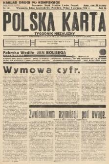 Polska Karta : tygodnik niezależny. 1935, nr31