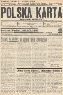 Polska Karta : tygodnik niezależny. 1935, nr34 (nakład drugi po konfiskacie)