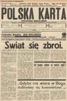 Polska Karta : tygodnik niezależny. 1935, nr36 (nakład drugi po konfiskacie)