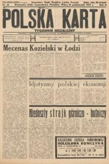 Polska Karta : tygodnik niezależny. 1935, nr41