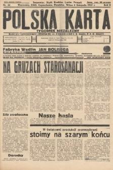 Polska Karta : tygodnik niezależny. 1935, nr44