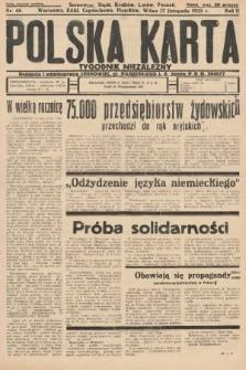 Polska Karta : tygodnik niezależny. 1935, nr46