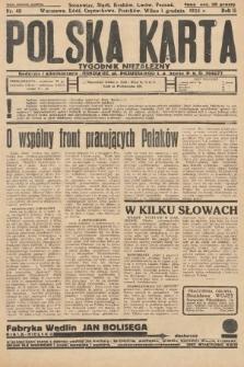 Polska Karta : tygodnik niezależny. 1935, nr48