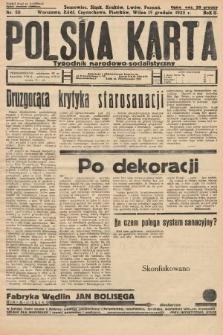 Polska Karta : tygodnik narodowo-socjalistyczny. 1935, nr50 (nakład drugi po konfiskacie)
