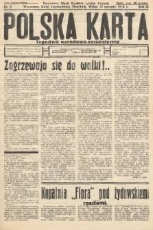 Polska Karta : tygodnik narodowo-socjalistyczny. 1936, nr2