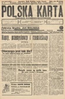 Polska Karta : tygodnik narodowo-socjalistyczny. 1936, nr5