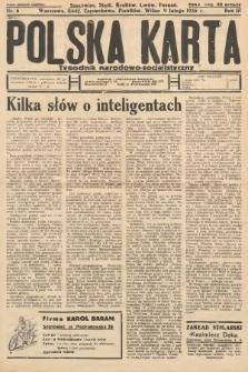 Polska Karta : tygodnik narodowo-socjalistyczny. 1936, nr6