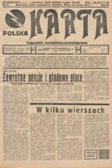 Polska Karta : tygodnik narodowo-socjalistyczny. 1936, nr8