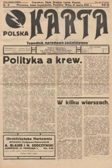 Polska Karta : tygodnik narodowo-socjalistyczny. 1936, nr11
