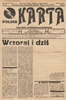 Polska Karta : tygodnik narodowo-socjalistyczny. 1936, nr17 (nakład drugi po konfiskacie)