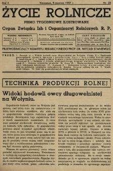 Życie Rolnicze : pismo tygodniowe ilustrowane : organ Związku Izb i Organizacyj Rolniczych R.P. 1937, nr23