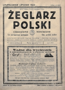 Żeglarz Polski : czasopismo miesięczne poświęcone sprawom żeglugi morskiej i rzecznej ze szczególnem uwzględnieniem potrzeb i zadań żeglugi polskiej. 1922, nr[7]