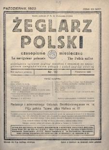 Żeglarz Polski : czasopismo miesięczne poświęcone sprawom żeglugi morskiej i rzecznej ze szczególnem uwzględnieniem potrzeb i zadań żeglugi polskiej. 1922, nr10