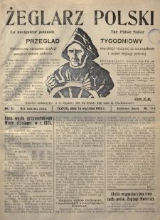 Żeglarz Polski : przegląd tygodniowy poświęcony sprawom żeglugi morskiej i rzecznej ze szczególnem uwzględnieniem potrzeb i zadań żeglugi polskiej. 1926, nr2