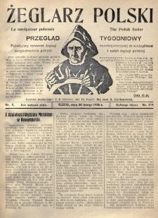 Żeglarz Polski : przegląd tygodniowy poświęcony sprawom żeglugi morskiej i rzecznej ze szczególnem uwzględnieniem potrzeb i zadań żeglugi polskiej. 1926, nr7