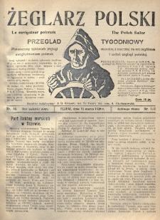 Żeglarz Polski : przegląd tygodniowy poświęcony sprawom żeglugi morskiej i rzecznej ze szczególnem uwzględnieniem potrzeb i zadań żeglugi polskiej. 1926, nr10