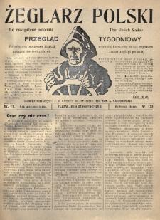 Żeglarz Polski : przegląd tygodniowy poświęcony sprawom żeglugi morskiej i rzecznej ze szczególnem uwzględnieniem potrzeb i zadań żeglugi polskiej. 1926, nr11