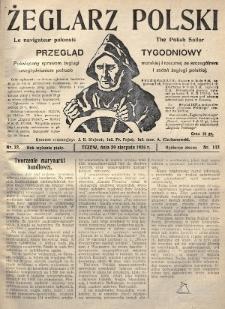 Żeglarz Polski : przegląd tygodniowy poświęcony sprawom żeglugi morskiej i rzecznej ze szczególnem uwzględnieniem potrzeb i zadań żeglugi polskiej. 1926, nr32