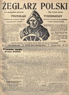 Żeglarz Polski : przegląd tygodniowy poświęcony sprawom żeglugi morskiej i rzecznej ze szczególnem uwzględnieniem potrzeb i zadań żeglugi polskiej. 1926, nr33