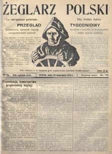 Żeglarz Polski : przegląd tygodniowy poświęcony sprawom żeglugi morskiej i rzecznej ze szczególnem uwzględnieniem potrzeb i zadań żeglugi polskiej. 1926, nr35