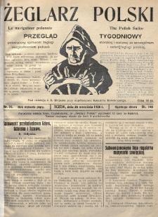 Żeglarz Polski : przegląd tygodniowy poświęcony sprawom żeglugi morskiej i rzecznej ze szczególnem uwzględnieniem potrzeb i zadań żeglugi polskiej. 1926, nr36