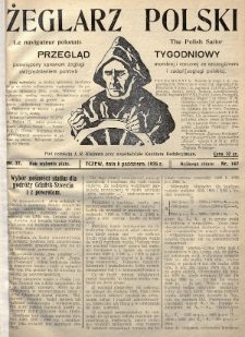 Żeglarz Polski : przegląd tygodniowy poświęcony sprawom żeglugi morskiej i rzecznej ze szczególnem uwzględnieniem potrzeb i zadań żeglugi polskiej. 1926, nr37