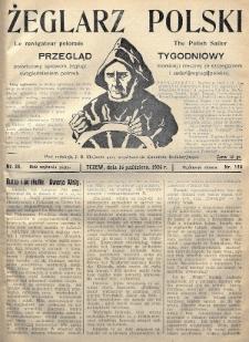 Żeglarz Polski : przegląd tygodniowy poświęcony sprawom żeglugi morskiej i rzecznej ze szczególnem uwzględnieniem potrzeb i zadań żeglugi polskiej. 1926, nr38