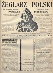 Żeglarz Polski : przegląd tygodniowy poświęcony sprawom żeglugi morskiej i rzecznej ze szczególnem uwzględnieniem potrzeb i zadań żeglugi polskiej. 1926, nr39