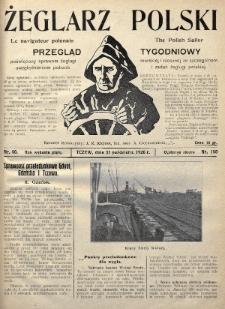Żeglarz Polski : przegląd tygodniowy poświęcony sprawom żeglugi morskiej i rzecznej ze szczególnem uwzględnieniem potrzeb i zadań żeglugi polskiej. 1926, nr40