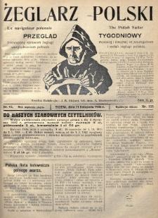 Żeglarz Polski : przegląd tygodniowy poświęcony sprawom żeglugi morskiej i rzecznej ze szczególnem uwzględnieniem potrzeb i zadań żeglugi polskiej. 1926, nr43
