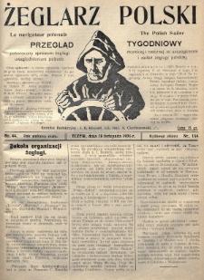 Żeglarz Polski : przegląd tygodniowy poświęcony sprawom żeglugi morskiej i rzecznej ze szczególnem uwzględnieniem potrzeb i zadań żeglugi polskiej. 1926, nr44