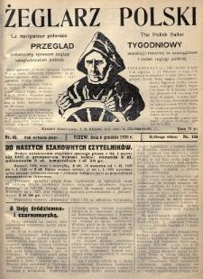 Żeglarz Polski : przegląd tygodniowy poświęcony sprawom żeglugi morskiej i rzecznej ze szczególnem uwzględnieniem potrzeb i zadań żeglugi polskiej. 1926, nr45