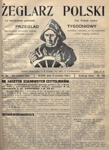 Żeglarz Polski : przegląd tygodniowy poświęcony sprawom żeglugi morskiej i rzecznej ze szczególnem uwzględnieniem potrzeb i zadań żeglugi polskiej. 1926, nr46