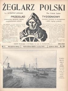 Żeglarz Polski : przegląd tygodniowy poświęcony sprawom żeglugi morskiej i rzecznej ze szczególnem uwzględnieniem potrzeb i zadań żeglugi polskiej. 1928, nr5
