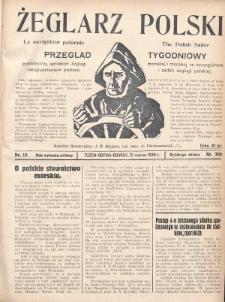 Żeglarz Polski : przegląd tygodniowy poświęcony sprawom żeglugi morskiej i rzecznej ze szczególnem uwzględnieniem potrzeb i zadań żeglugi polskiej. 1928, nr12