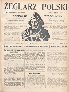 Żeglarz Polski : przegląd tygodniowy poświęcony sprawom żeglugi morskiej i rzecznej ze szczególnem uwzględnieniem potrzeb i zadań żeglugi polskiej. 1928, nr13