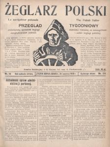 Żeglarz Polski : przegląd tygodniowy poświęcony sprawom żeglugi morskiej i rzecznej ze szczególnem uwzględnieniem potrzeb i zadań żeglugi polskiej. 1928, nr15
