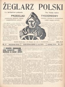 Żeglarz Polski : przegląd tygodniowy poświęcony sprawom żeglugi morskiej i rzecznej ze szczególnem uwzględnieniem potrzeb i zadań żeglugi polskiej. 1928, nr17