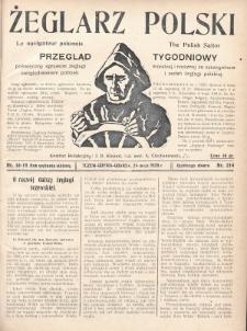 Żeglarz Polski : przegląd tygodniowy poświęcony sprawom żeglugi morskiej i rzecznej ze szczególnem uwzględnieniem potrzeb i zadań żeglugi polskiej. 1928, nr18-19