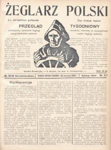 Żeglarz Polski : przegląd tygodniowy poświęcony sprawom żeglugi morskiej i rzecznej ze szczególnem uwzględnieniem potrzeb i zadań żeglugi polskiej. 1928, nr22-23