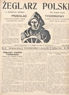 Żeglarz Polski : przegląd tygodniowy poświęcony sprawom żeglugi morskiej i rzecznej ze szczególnem uwzględnieniem potrzeb i zadań żeglugi polskiej. 1928, nr29
