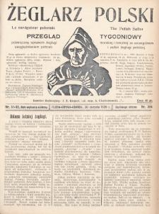 Żeglarz Polski : przegląd tygodniowy poświęcony sprawom żeglugi morskiej i rzecznej ze szczególnem uwzględnieniem potrzeb i zadań żeglugi polskiej. 1928, nr31-32