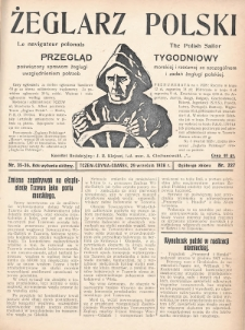 Żeglarz Polski : przegląd tygodniowy poświęcony sprawom żeglugi morskiej i rzecznej ze szczególnem uwzględnieniem potrzeb i zadań żeglugi polskiej. 1928, nr35-36