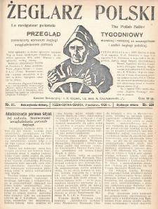 Żeglarz Polski : przegląd tygodniowy poświęcony sprawom żeglugi morskiej i rzecznej ze szczególnem uwzględnieniem potrzeb i zadań żeglugi polskiej. 1928, nr37