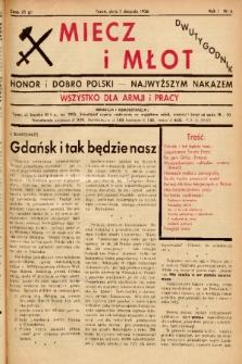 Miecz i Młot : honor i dobro Polski - najwyższym nakazem : wszystko dla armji i pracy. 1936, nr 6