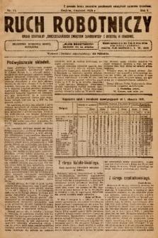 """Ruch Robotniczy : organ centralny """"Chrześcijańskich Związków Zawodowych"""" z siedzibą w Krakowie. 1920, nr 11"""