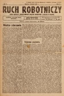 """Ruch Robotniczy : organ centralny """"Chrześcijańskich Związków Zawodowych"""" z siedzibą w Krakowie. 1921, nr 3"""