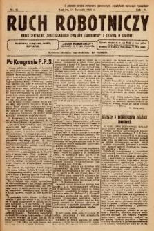 """Ruch Robotniczy : organ centralny """"Chrześcijańskich Związków Zawodowych"""" z siedzibą w Krakowie. 1921, nr 11"""