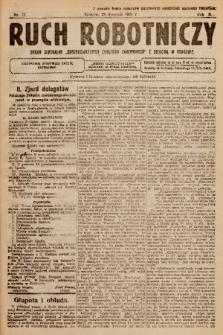 """Ruch Robotniczy : organ centralny """"Chrześcijańskich Związków Zawodowych"""" z siedzibą w Krakowie. 1921, nr 12"""