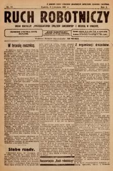 """Ruch Robotniczy : organ centralny """"Chrześcijańskich Związków Zawodowych"""" z siedzibą w Krakowie. 1921, nr 17"""